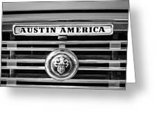 Austin America Grille Emblem -0304bw Greeting Card