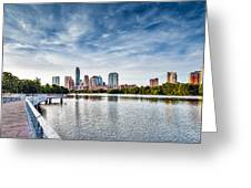 Austin Boardwalk View On Lake Greeting Card