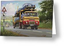Austin Carrimore Transporter Greeting Card