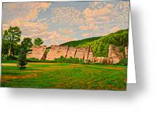 Austin Dam Greeting Card