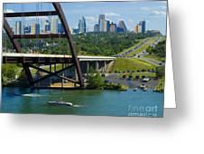 Austin From The 360 Bridge Greeting Card