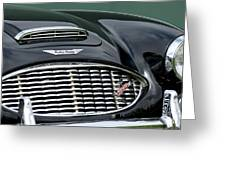 Austin-healey 3000 Grille Emblem Greeting Card by Jill Reger