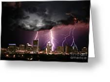 Austin Light Show Greeting Card