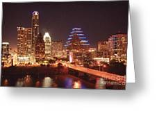 Austin Lights The Night Greeting Card by Terry Rowe