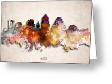 Austin Painted City Skyline Greeting Card