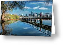 Austin Skyline And Lady Bird Lake - Greeting Card