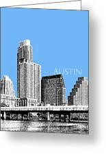 Austin Skyline - Sky Blue Greeting Card