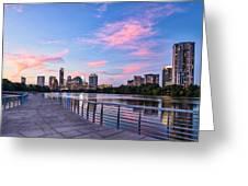 Austin Skyline At Sunset Greeting Card