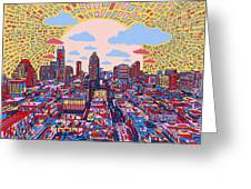 Austin Texas Abstract Panorama 2 Greeting Card