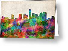 Austin Texas Abstract Panorama 4 Greeting Card