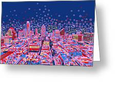 Austin Texas Abstract Panorama Greeting Card