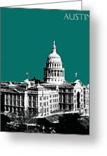 Austin Texas Capital - Sea Green Greeting Card