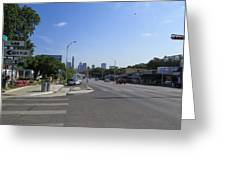 Austin Texas Congress Street View Greeting Card