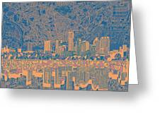Austin Texas Skyline 2 Greeting Card