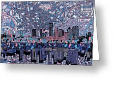 Austin Texas Skyline 3 Greeting Card