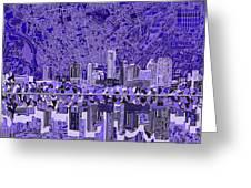 Austin Texas Skyline 4 Greeting Card