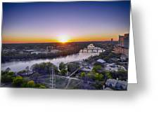 Austin Texas Sunset Hour Greeting Card