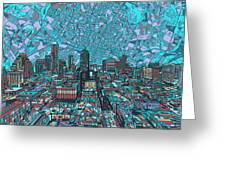 Austin Texas Vintage Panorama 4 Greeting Card