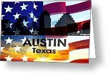 Austin Tx Patriotic Large Cityscape Greeting Card