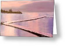 Austinmer Pool At Sunset Greeting Card