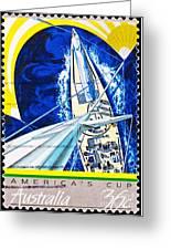 Australia II Americas Cup Yacht Sailboat  Greeting Card