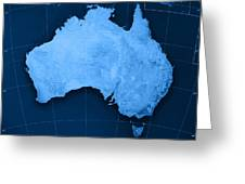 Australia Topographic Map Greeting Card