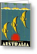 Australia Vintage Travel Poster Greeting Card