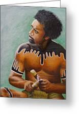 Australian Aboriginal Greeting Card by David Hawkes