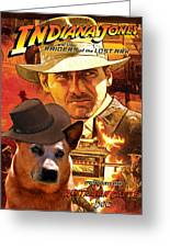 Australian Cattle Dog Art Canvas Print - Indiana Jones Movie Poster Greeting Card