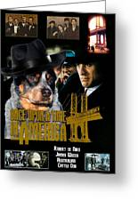 Australian Cattle Dog Art Canvas Print - Once Upon A Time In America Movie Poster Greeting Card