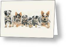 Australian Cattle Dog Puppies Greeting Card