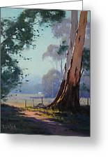 Australian Farm Painting Greeting Card by Graham Gercken