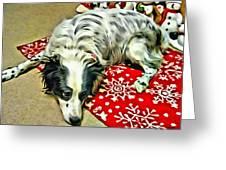 Australian Shepherd Happy Holidays Greeting Card