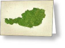 Austria Grass Map Greeting Card