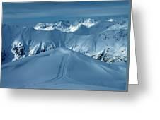 Austria Mountain Ischgl Greeting Card