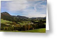 Austrian Autumn Scenic Panorama 2 Greeting Card