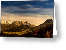 Austrian Autumn Scenic Panorama Greeting Card
