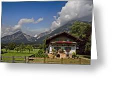 Austrian Cottage Greeting Card by Debra and Dave Vanderlaan