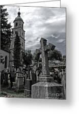 Austrian Graveyard Greeting Card