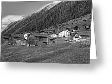 Austrian Village Monochrome Greeting Card