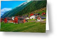 Austrian Village Greeting Card