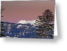 Austrian Winter Scenic Panorama Greeting Card