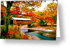 Authentic Covered Bridge Vt Greeting Card
