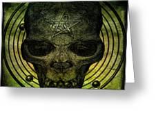 Authentic Skull Of The Vampire Callicantzaros Greeting Card