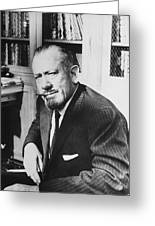 Author John Steinbeck Greeting Card