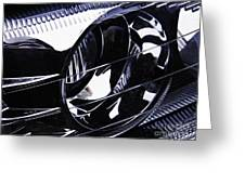 Auto Headlight 155 Greeting Card