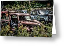 Auto Junk Yard Greeting Card