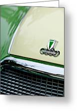 Auto Union Dkw Hood Emblem Greeting Card