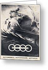 Auto Union Greeting Card