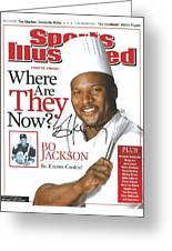 Autographed Sports Illustrated Cover By Bo Jackson Bo Knows Cookin' Greeting Card by Desiderata Gallery